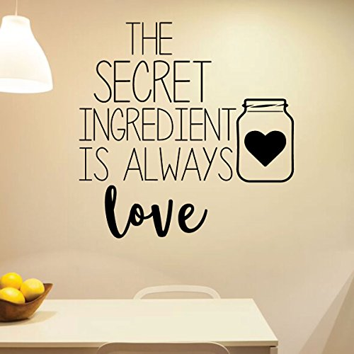 Kitchen Wall Sign - The Secret Ingredient - Farmhouse Style Kitchen Decoration and Vinyl Decor