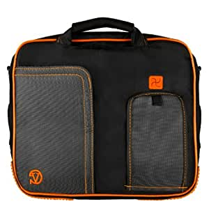 VanGoddy Pindar Professional Deluxe Business Office Nylon Messenger Case with Padded Shoulder Strap For Microsoft Surface (8 Pro) / Microsoft Surface (RT) Windows 8 Tablet Computer Notebook Netbook Tab