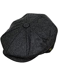 9aefd5eb20f77 Men s Classic 8 Panel Wool Blend newsboy Snap Brim Collection Hat