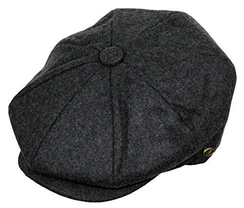 Men's Classic 8 Panel Wool Blend newsboy Snap Brim Collection -