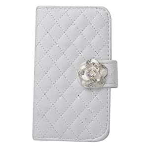 C8Q Luxury Flip PU Leather Magnetic Case Colorful Wallet Cards Holder Cover For Apple Iphone 5S White