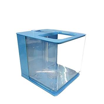 BellalueeES Tamaño portátil Mismo Perezoso de Limpieza de Escritorio plástico Mini Creativo Acuario ecológico pequeño Acuario Aquario Fish Tank: Amazon.es: ...