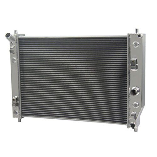 CoolingCare 62MM 4 Row Aluminum Radiator for 2005-2013 Chevy Corvette C6 V8 Double Oilcooler