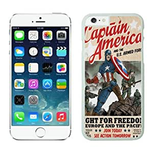4EVER Cool Cell Case for Iphone 6 White, Captain America Iphone 6 Shell Cover