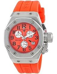 Swiss Legend Womens 10535-06 Trimix Diver Chronograph Orange Dial Orange Silicone Watch