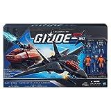 G.I. Joe 50th Anniversary Silent Strike Set with Black Skystriker Jet, Orange H.I.S.S. (HISS) Tank & 4 Action Figures