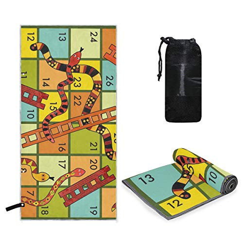 Microfiber Travel Sports Towel Winning A Snakes and Ladders Game Quick Dry Soft Lightweight Absorbent&Ultra Compact-Perfect for Camping Gym Beach Bath Yoga Backpacking Fitness +Gift Bag]()