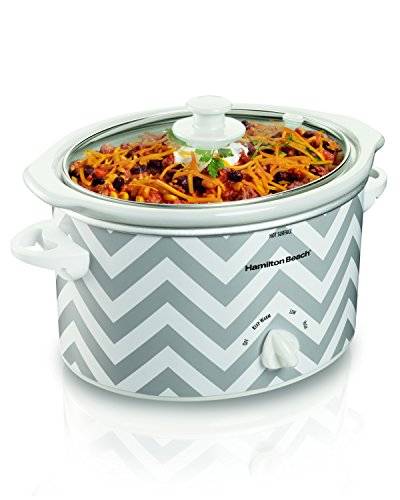 Hamilton Beach 33234 Oval Slow Cooker, 3-Quart / Chevron