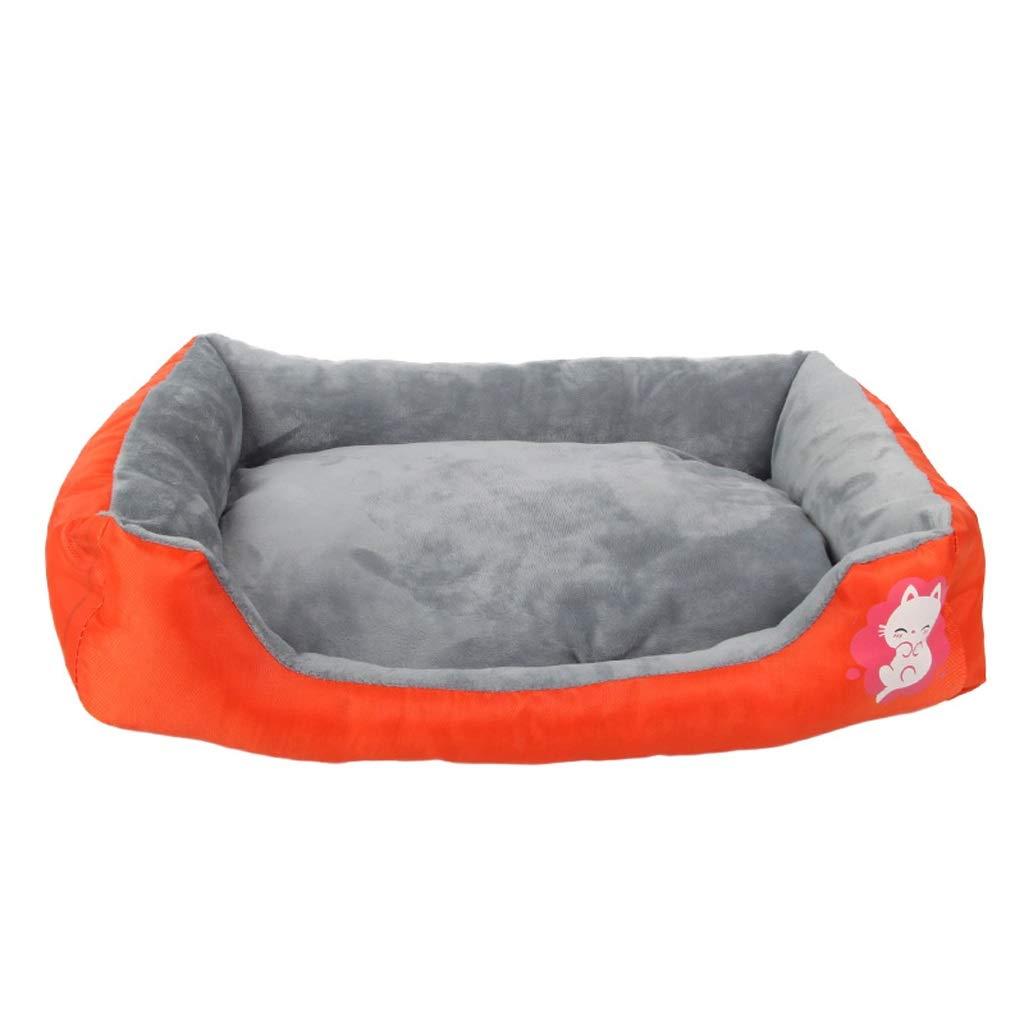 orange L orange L BLRYP pet Bed Cat Dog Sleeping Bag Double-Sided Dual-use Pet Bed Mat Comfortable Soft Nest Dog Bed Washable Soft Hardwearing Basket Pet mat,Dog cat Bed (color   orange, Size   L)