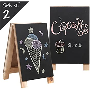 Amazon Com Set Of Three Folding Easels Chalkboard On
