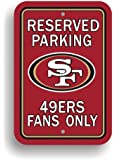 NFL San Francisco 49Ers Plastic Parking Sign