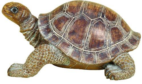 Deco 79 98281 Polystone Decorative Turtle Statue, 15 by 6-Inch