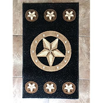 Amazon Com Skinz Texas Lone Star Door Mat Area Rug Black