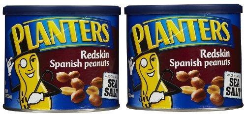 Planters Peanuts, Spanish Rdskn w/ Sea Salt, 12.5 oz, 2 pk by Planters
