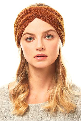 ScarvesMe Knot Unisex Solid Sherpa Fleece Headband Headwrap