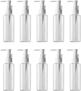 Lurrose 10Pcs 200ml Empty Makeup Liquid Pump Bottles Liquid Lotion Pump Dispenser Cleansing Oil Dispenser Bottles for Home Travel