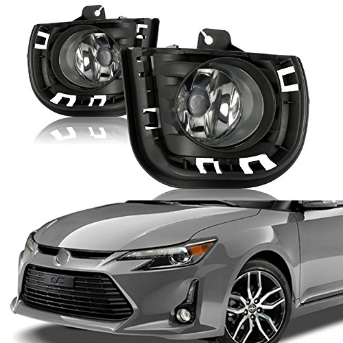 cciyu Clear Lens OE Replacement Fog Lights Assembly Front Bumper Lamps For 2014-2015 Scion TC (Oe Replacement Fog Lamp)
