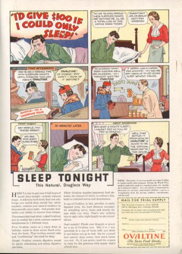 Ovaltine Swiss Food-Drink Official night-cap ad 1933