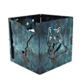 D'Lites Minnesota Wolf Themed Candle Holder Box by d'ears - Stainless Steel