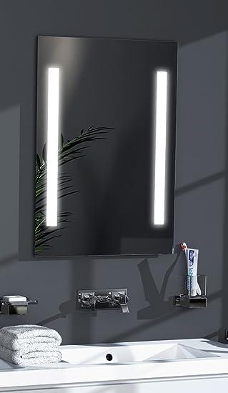 Talos LED-Spiegel Sky– Warmweiß beleuchteter Spiegel für Das ...