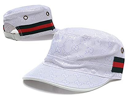76223e12230 Image Unavailable. Image not available for. Color  Gucci Snapback Baseball  Cap White Adjustable hat