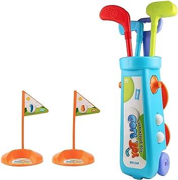 Juegos Aire Libre Mini Golf Trolley Juguete de Jardin Palos de Golf Regalo para Niños 3 4 5 6 Edades Consta de 12 Piezas: Amazon.es: Juguetes y juegos