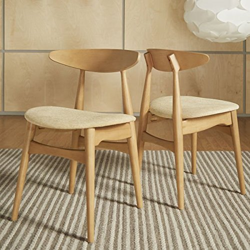 Norwegian Danish Modern Tapered Side Chairs (Set of 2) - Cream