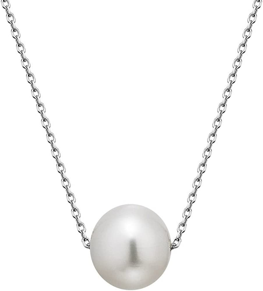cadeau de f/ête des m/ères,Cadeau pour la m/ère et la dame ELAINZ HEART/® 45cm AAAA collier de perles de culture deau douce
