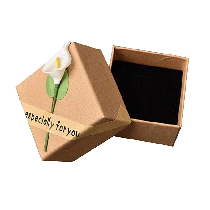 Amazon.com: Joyería Pendientes Caja de Regalo Kraft Papel ...