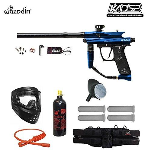 MAddog Azodin Kaos 2 Silver Paintball Gun Package - Blue/Black