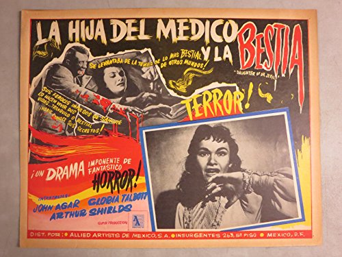 The Daughter Of Dr. Jekyll (1957) Mexican Lobby Card Movie Poster 13x16 Appropriately Garish! Gloria Talbott