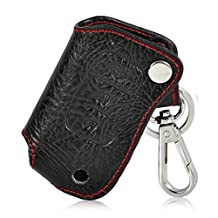 Genuine Leather Remote Key Chain Holder Case Cover Fob for FORD FOCUS FIESTA MONDEO