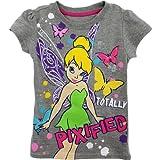 "Disney Fairies Tinkerbell ""Totally Pixified"" Grey T-Shirt 4-6X"