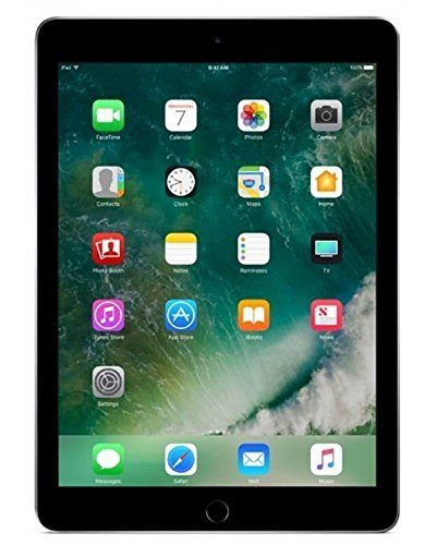 Apple iPad 6th Gen 32GB 2018 Newest with Saiborie 49 Value Accessories, Wi-Fi Only, 9.7 Retina Display, 2GB RAM, A10 Fusion chip, Touch ID, Apple Pay, Night Shift (Space Gray)