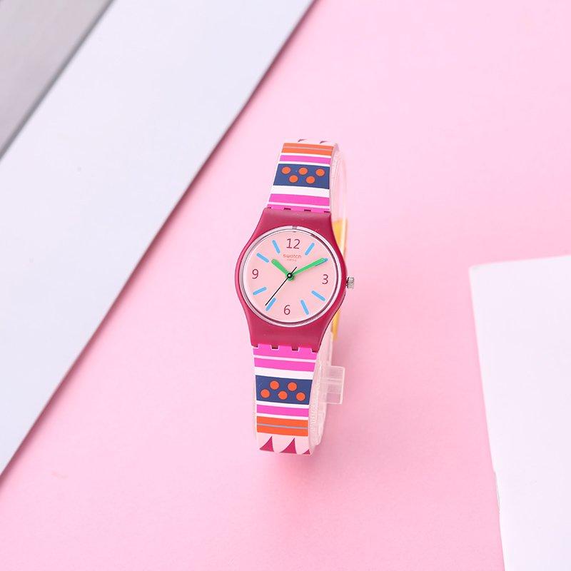 Amazon.com: Swatch Womens Laraka LP152 Matte Red Silicone Swiss Quartz Fashion Watch: Swatch: Watches