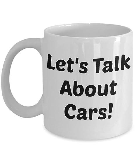 Amazon.com: Los amantes de los coches taza (blanco) \ Let s ...