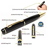 Citra Spy Hd Pen Camera With Voice-Video Recorder And Dvr-Hidden-Camcorder,Black And Golden with 16 gb inbuilt memory