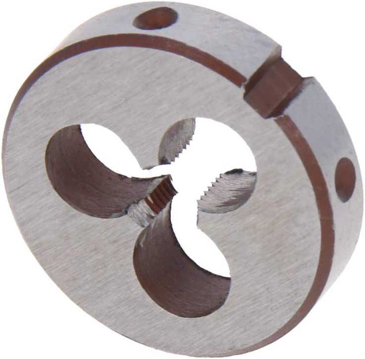 Utoolmart M16/×1.25 Round Die Fine Grinding Alloy Metric Manual Pipe Thread Threaded Tap Tool Wire Die
