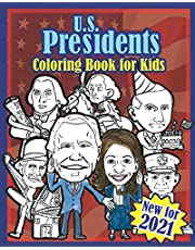 U.S. Presidents Coloring Book for Kids: American History Made Fun with Silly Caricatures to Color