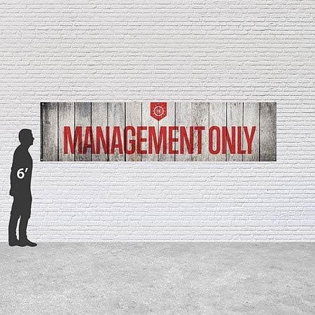 CGSignLab 12x3 Management Only Nautical Wood Heavy-Duty Outdoor Vinyl Banner