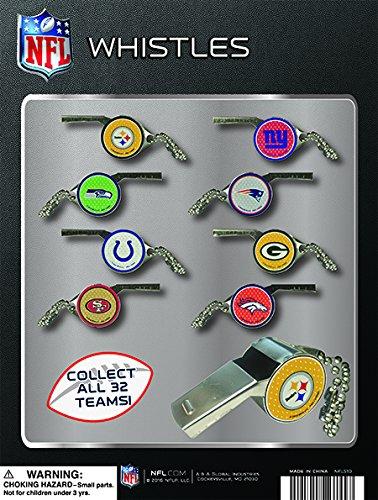 Official NFL SPORTS LOGO Whistles ( Set of 32 - Logo Mew