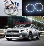 FidgetFidget 2pcs LED SMD 7000K Angel Eyes kit Halo Rings for Nissan Maxima 2009-2014