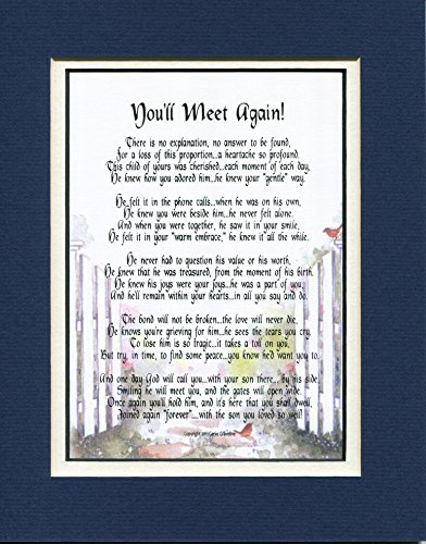 You'll Meet Again! (Male) Sympathy Gift For The Loss Of A Son #110, A Bereavement Memorial Gift