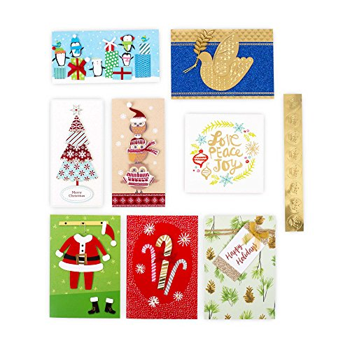 Hallmark Christmas Handmade Boxed Assorted Greeting Cards Set (Pack of 24) - Holiday Card Assortment Boxset with Envelopes Photo #4