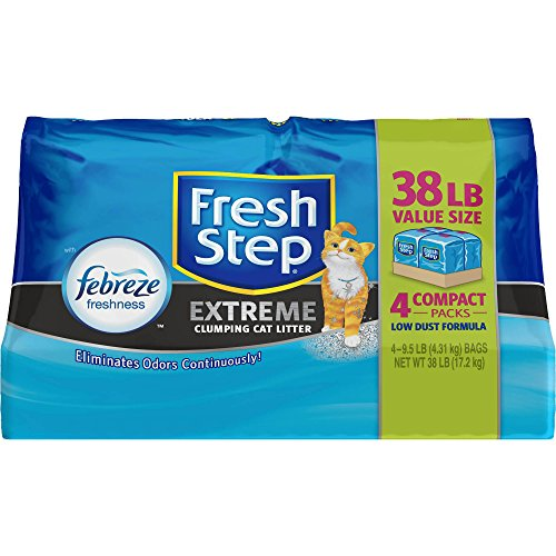 Image of Fresh Step Extreme with Febreze Freshness, Clumping Cat Litter, Scented, 38 Pounds