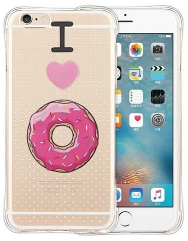 Coque Silicone souple Iphone 6 ou 6s I love Donut (livraison gratuite en France)