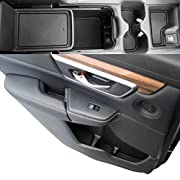 Custom Fit Cup Holder and Door Liner Accessories 2017 2018 Honda CR-V 19-pc Set (Solid Black)