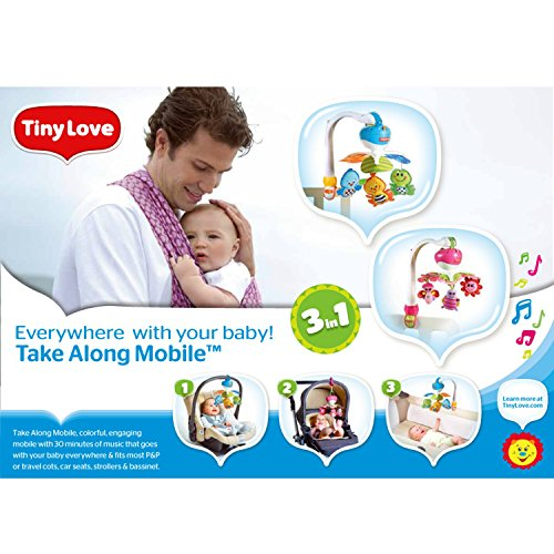 Tiny Love Take Along Mobile, Animal Friends, Blue