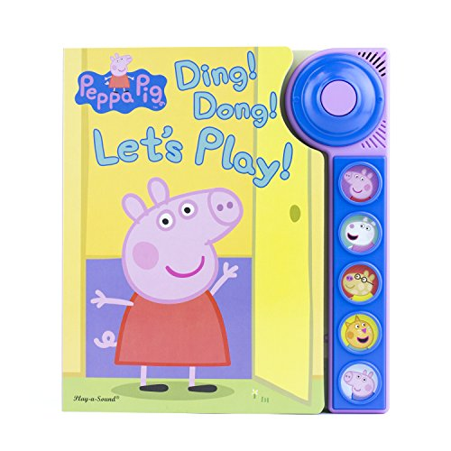 Peppa Pig - Ding! Dong! Let's Play! Doorbell Sound Book - PI Kids (Peppa Pig Gifts For 2 Year Old)