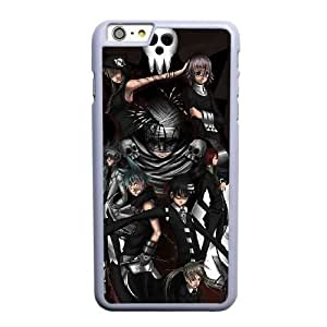 Grouden R Create and Design Phone Case,Soul Eater Cell Phone Case for iPhone 6 6S plus 5.5 inch White + Tempered Glass Screen Protector (Free) GHL-5538132